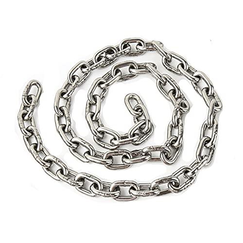 DARENYI Cadena de acero inoxidable de 1,5 m, cadena colgante de metal de 3 mm, cadena de acero inoxidable al aire libre para cadena de perros, maceta colgante, jaula para pájaros, etc