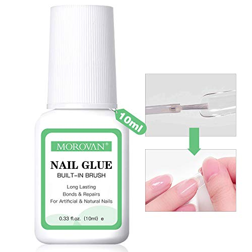 Super Strong Nail Glue for Acrylic Nails and Press on Nails,Professional Super False Nail Adhesive Glue for Broken Nails Long Lasting(10ml/0.33oz)