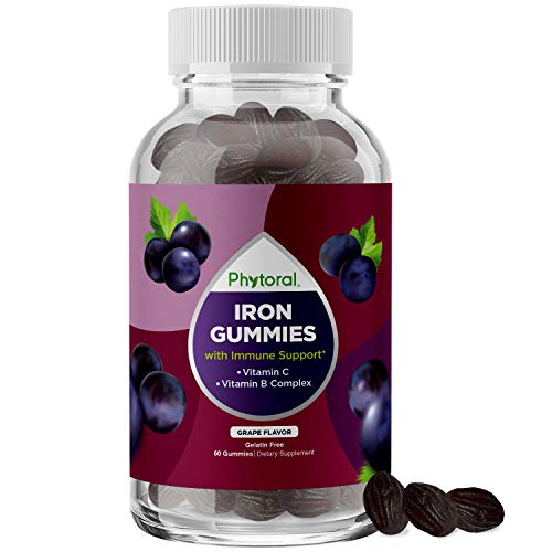 Natural Multivitamin Iron Gummies for Adults - Adult Gummy Vitamins with Iron and Energy Boost B Complex Vitamins - Gummy Iron Supplement and Mental Clarity and Focus Multivitamin with Iron Gummy
