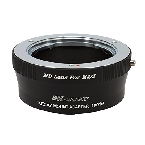 KECAY Adaptador para Adaptar Lentes de Minolta MD MC Mount en Cámaras Micro 4/3 M4/3 Micro Four Thirds Compatible con Panasonic G3 G10 GX1 GH1 GH2 GF1 GF2 GF3 GF5 GH4 Olympus Pen E-M5 E-M10 MD-M4/3