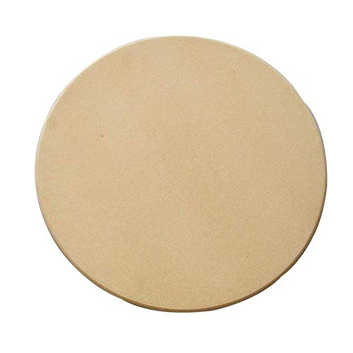Piedra para pizza redonda   Bandeja para pizza de piedra de cordierita   Para horno y grill (28 CM)