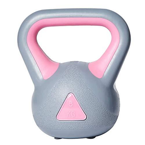 2 Kg 4 Kg 6 Kg 8 Kg de Fitness Pesas Rusas Antideslizante de la Manija Portable de Pesas Rusas para la Fuerza Y Entrenamiento Cardiovascular,Gris-Rosa,2Kg