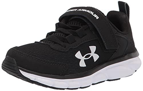Under Armour boys Pre School Assert 9 Alternate Closure Sneaker, Black/White, 1 Little Kid US