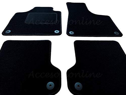 Accesorionline Alfombrillas para Audi A3 (2003-2012) 3/5 Puertas - A Medida con talonera Alfombras esterillas 8P