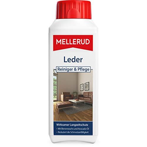 Mellerud Leder Reiniger & Pflege – Wirksamer Langzeitschutz vor Verschmutzung für geschmeidiges Kunst- und Echtleder – 1 x 0,25 l