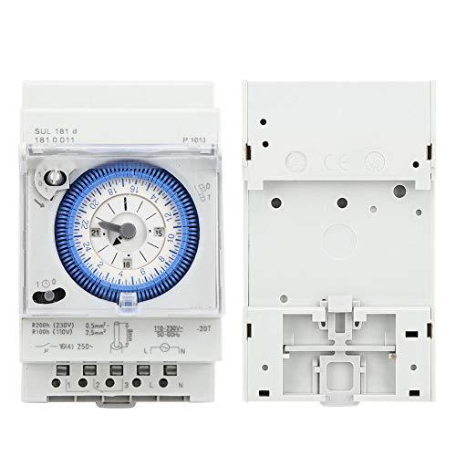 Interruptor de tiempo, interruptor de temporizador de 24 horas, fácil de instalar y usar para electrodomésticos de control industrial