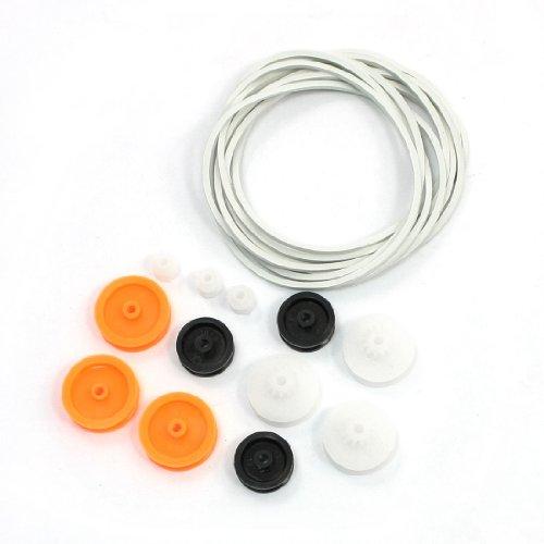 Aexit 12 stück runde kunststoff riemenscheibe w 10 stück gürtel kit für diy rc modell (950da70c32fe159ae6cf9c545388ad20)