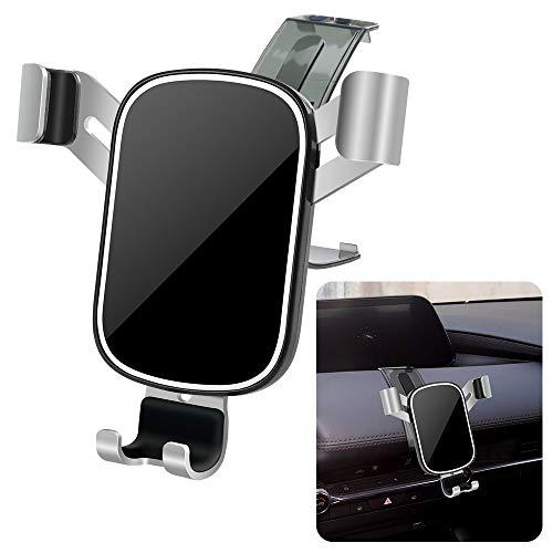 LUNQIN - Soporte para teléfono de coche para Mazda 3 2019-2020 [teléfonos grandes con funda amigable] Auto Accesorios Soporte de navegación decoración interior móvil espejo celular teléfono montaje