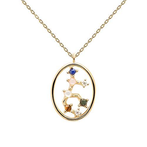 PDPAOLA - Collar Libra - Plata de Ley 925 Bañada en Oro de 18k - Joyas para Mujer