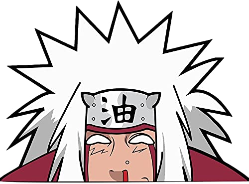BLKUOPAR 5.1'' for Naruto Character Peeker Car Sticker Waterproof Anime Jiraiya Decal Bumper Window Vinyl Car Wrap