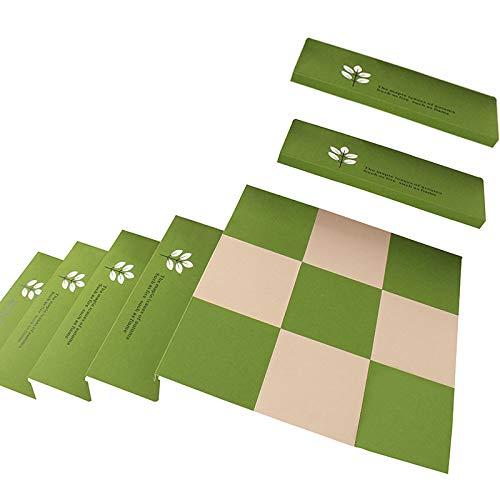 5 Pezzi Imbottiture per Scale Luminose, Tappetino Antiscivolo per Scale, tappetini per Scale, tappeti per Scale Verdi, 75 * 21,5 * 4 cm,Green~A-L