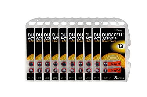 Duracell Activair Hearing Aid Batteries: Size 13 (80 Batteries)