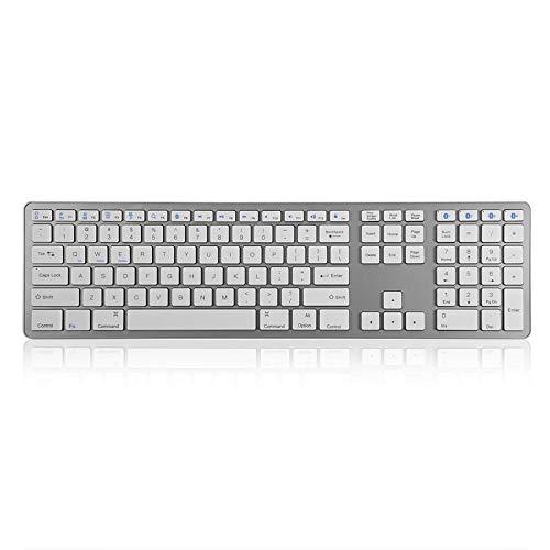 AN Drahtlose Bluetooth Tastatur, Bewegliche Mute Tastatur Bluetooth 3.0 Anschluss Multi-Point Pairing Für Kompatibilität Geeignet Für Office Und Spiele
