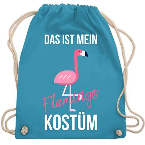 Shirtracer Karneval & Fasching - Das ist mein Flamingo Kostüm - Unisize - Hellblau - beutel umhängetasche damen - WM110 - Turnbeutel und Stoffbeutel aus Baumwolle