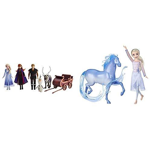 Disney Die Eiskönigin Abenteuerliche Schlittenfahrt, enthält ELSA, Anna, Kristoff, Olaf und Sven Puppen mit Schlitten & ELSA Puppe und Nokk Figur, inspiriert durch den Film Die Eiskönigin 2