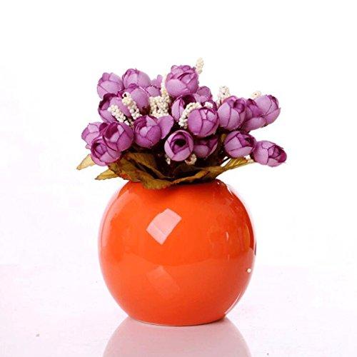 Einfache Moderne Keramik Handwerk Heimtextilien Wohnzimmer Zimmer Kreative Mode Blume Blume Vase GAOLILI (Color : K)