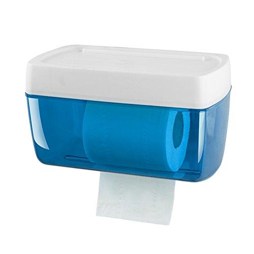 Plastic zonder boren muur mount toiletpapier houder, eenvoudige roll houder met plank badkamer waterdichte Tissue Box-C 23x13x13,5 cm (9x5x5inch)