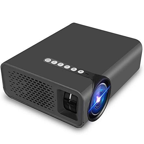 Portable HD Startpagina Beamer, Ondersteuning for Binnenlandse Zaken en andere gelegenheden, ondersteuning van een verscheidenheid van externe apparaten, groot scherm visuele ervaring, Black ZHNGHENG