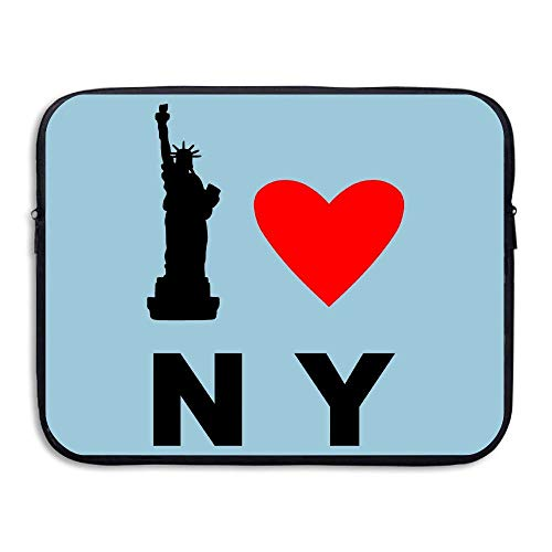 Laptop Sleeve Bag I Love NY New York Love 15 Inch BriefSleeve Bags Cover Notebook Waterproof Portable Messenger Bags