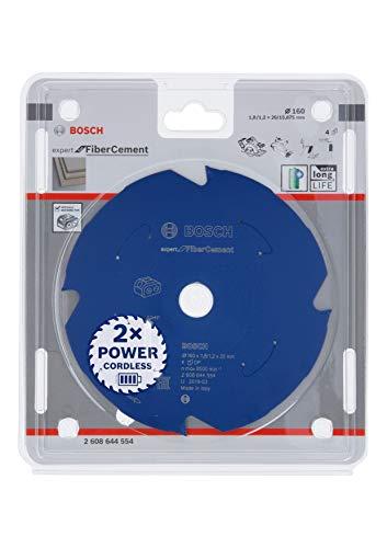 Bosch Professional Kreissägeblatt Expert for Fiber Cement (Faserzement, 160 x 20 x 1,8 mm, 4 Zähne, Zubehör Akku Kreissäge)