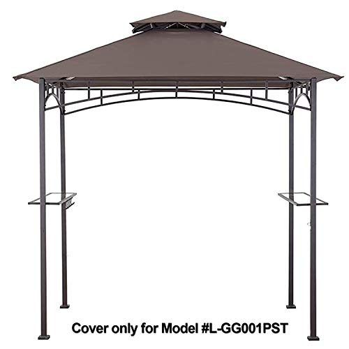 MASTERCANOPY Grill Gazebo Shelter Replacement Canopy Cover ONLY FIT for Gazebo Model L-GG001PST-F (Brown)