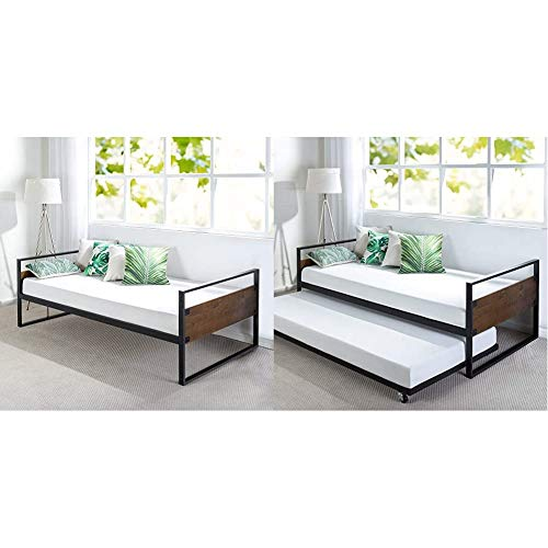 Zinus Suzanne Twin Daybed Frame & Suzanne Twin Daybed and Trundle Frame Set