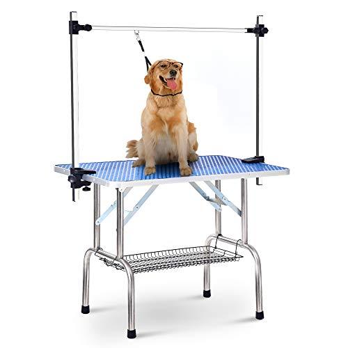 DuraB Haustier Hund Pflegetisch Trockentisch Trimmtisch Höhenverstellbar für kleine oder mittlere Hunde
