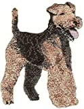 VirVenture 3.5' Standing Full Body Welsh Terrier Dog Breed Embroidery Patch Great for Hats, Backpacks, and Jackets.