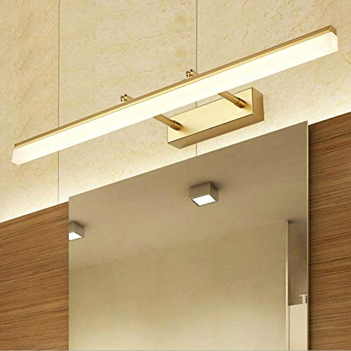 RAQ Moderne led-wandlamp goud/zwart 40 cm9w/50 cm12w spiegel voorlicht aluminium badkamer benodigdheden 12 W 50 cm goud