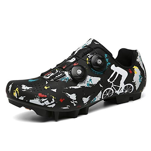 Zapatillas Ciclismo MTB para Hombre Mujer Zapatillas Bicicleta de Montaña Zapatillas Ciclismo Carretera Antideslizantes Respirables Zapatillas de Ciclismo