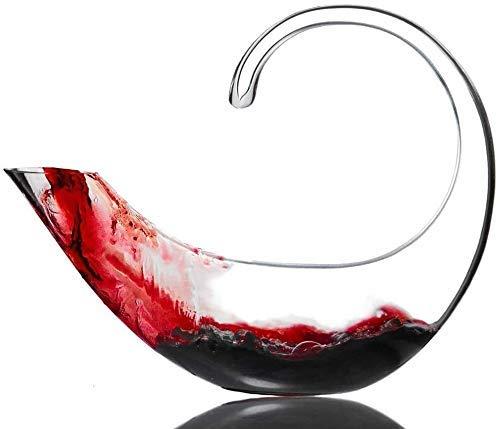 Decantador de vino, Decantador de whisky Crystal Scorpion Vino Decantador 100% Mano Blown-Free Crystal Glass, Mejora de sabor y aroma del vino, Accesorios de vino Decantador de whisky Set Crystal (Tam