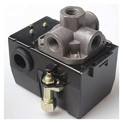 liangzai Válvula de Control del Interruptor de presión del compresor de Aire 120PSI 4 Descarga de Puerto Control de presión de Encendido/Apagado Hilarity