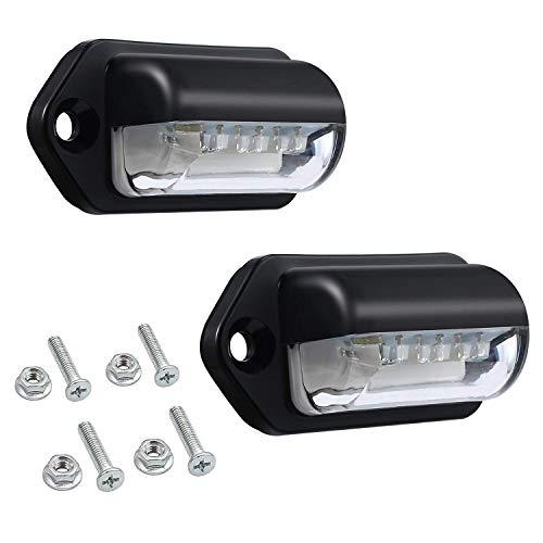 Dasorende Luces de Placa de Número Led Luces de Matrícula Lámparas Traseras Universal 12V 24V para Coche Remolque Vehículo Vehículo Ute Camioneta Caravana Bote
