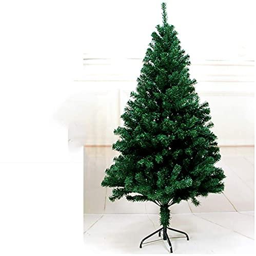 SDKFJ Alberi di Natale Artificiali Albero di Natale di Pino Albero di Natale Realistico Artificiale Robusto Facile assemblaggio Rami Naturali con Supporto in Metallo 0821(Color:Green;Size:5ft (1.5m))