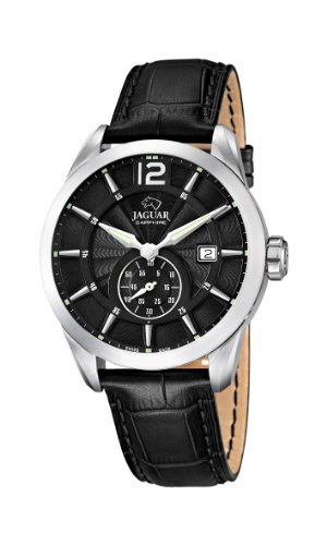 Jaguar Watches Herren-Armbanduhr XL Analog Quarz Leder J663/4