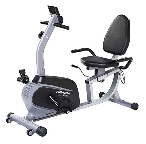 Reach Classic Recumbent Bike Exercise Cycle for Cardio Workout | Indoor Exercise Bike with...