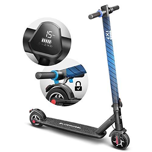 Bluewheel ¡Novedad en el Mercado 2019! Scooter eléctrico IX7 de diseño futurista + Pantalla LCD, Solo 9.2 kg, Patinete eléctrico...