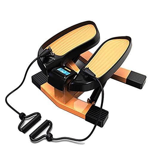 Stepper per Esercizio, Mini Stepper Cardio Fitness Twister Stepper Stepper 2 in 1 Step Macchine con Bande di Resistenza E Monitor LCD, Attrezzatura Fitness Idraulica per Perdita di Peso Sportiva