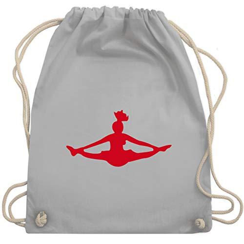Tanzsport - Cheerleading - Unisize - Hellgrau - sporttasche tanzen - WM110 - Turnbeutel und Stoffbeutel aus Baumwolle