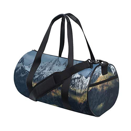 ZOMOY Bolsa de Deporte,Vista panorámica de Nevado Grand Mountains cabaña primitiva cabaña...