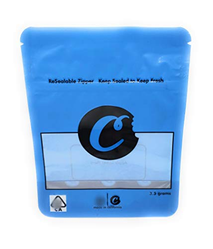 Fantastic Prices! Cookies 3.5 Gram Mylar Bags, Premium, Heat Seal, Smell Proof, Child Proof, Reseala...
