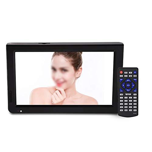 Richer-R 10 Zoll Tragbarer DVB-T/T2 Fernseher, HDTV Digital Analog Fernseher Auto DVB-T-T2 1024x600 Portable TV,Unterstützt 1080p Video/AVI/MP4/MPEG1-4/MP3/SD-Karte/USB EU-Stecker Schwarz(EU-Plug)