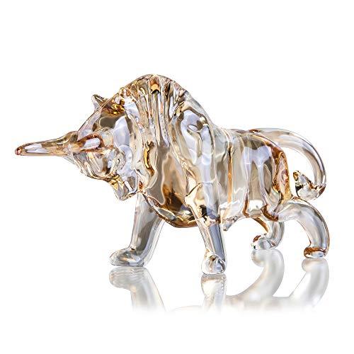 H&D HYALINE & DORA Kristall Wall Street Stier Figur Glas FengShui Skulptur Home Office Schreibtisch dekorative Verzierung