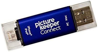 iPhone Smart USB Flash Drive 64GB [Apple MFI Certified] Picture Keeper Connect - Lightning Memory Expansion Backup for Apple iOS (Blue)