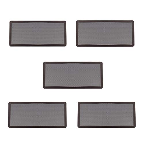KUNSE 5Pcs Magnetisches Staub Sicheres Filter Gewebe Für Pc-Chassis-Ventilator 12Cmx24Cm