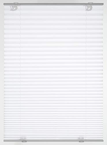 GARDINIA Dachfenster-Plissee Solo mit Saugnäpfen, Blickdichtes Faltrollo, Alle Montage-Teile inklusive, Weiß, 59,3x100cm