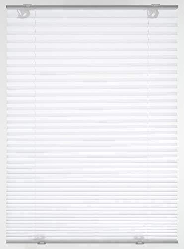 GARDINIA Dachfenster-Plissee Solo mit Saugnäpfen, Blickdichtes Faltrollo, Alle Montage-Teile inklusive, Weiß, 47,3x100cm