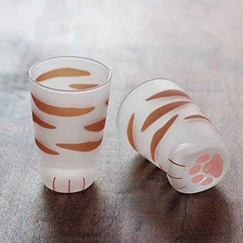 Zqylg Kat klauwbeker creatief schattig glas kat klauwbeker kantoor koffiemok Valentijnsgeschenk hittebestendig handgemaakt kleine taby