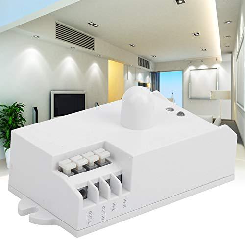 Interruptores de sensor de microondas, TDL-1913 Interruptor de sensor de microondas Sensor de movimiento Luz de encendido/apagado Alta sensibilidad Detector de movimiento de larga distancia Cambiado