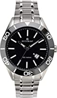 Scratch Resistant Sapphire Crystal Glass Luxury Ceramic Bezel 100m Water Resistant Suitable For Swimming Push Button Deployment Clasp Make a real statement with this Accurist Signature men's classic sports watch with stylish and durable solid stainle...